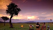 Open range Sunset in Kenya