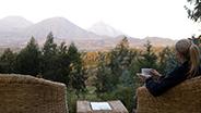 Rwanda luxury lodge porch view