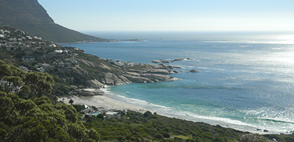 Capetown coastline from above